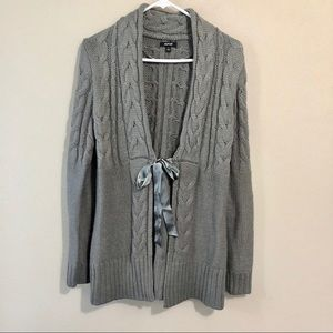 Apt. 9 Ribbon Tie Front Cable Knit Sweater